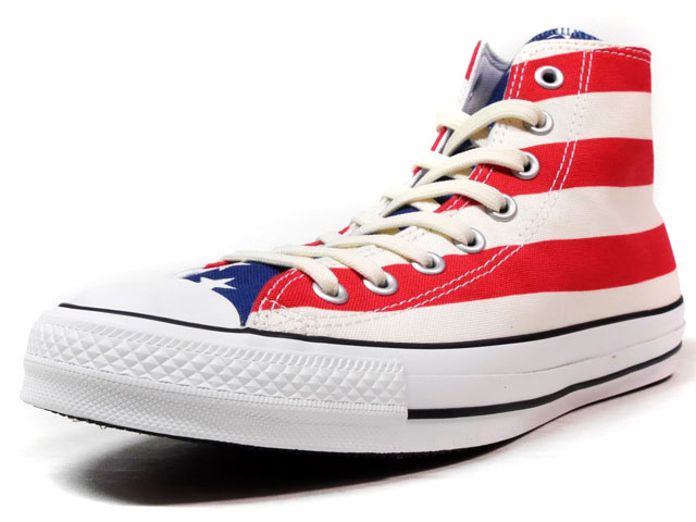 "CONVERSE ALL STAR 100 STARS&BARS HI ""ALL STAR 100th ANNIVERSARY"" ""LIMITED EDITION""  NAT/RED/NVY/WHT (32960672)"