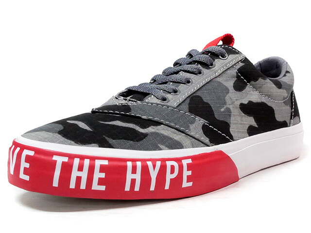 "LOSERS UNEAKER ""DON'T BELIEVE THE HYPE"" ""CUSTOM MADE""  GRY/CAMO/RED (16UN06)"