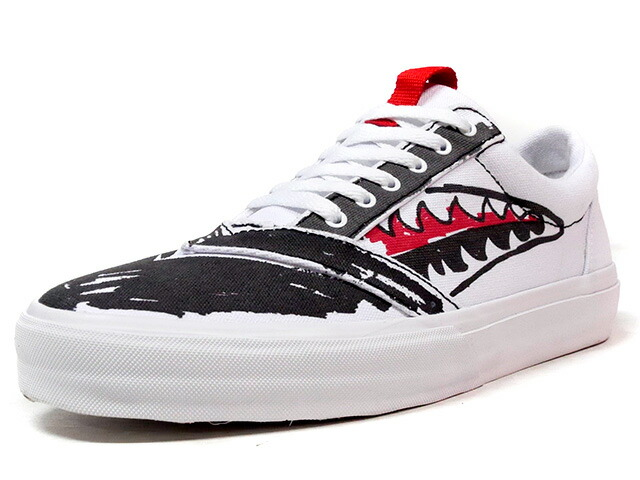 "LOSERS UNEAKER ""SKETCH"" ""CUSTOM MADE""  WHT/BLK/RED (16UN10)"
