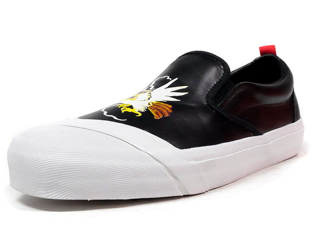 "LOSERS SCHOOLER SLIPON ""SOUVENIR"" ""CUSTOM MADE""  BLK/WHT/RED (16SP09)"