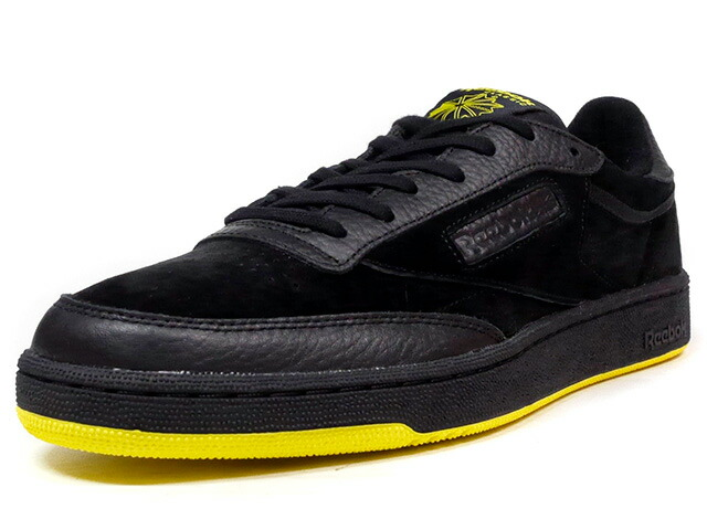 "Reebok CLUB C 85 INV ""INVENTOR PACK"" ""LIMITED EDITION""  BLK/YEL (BS7725)"