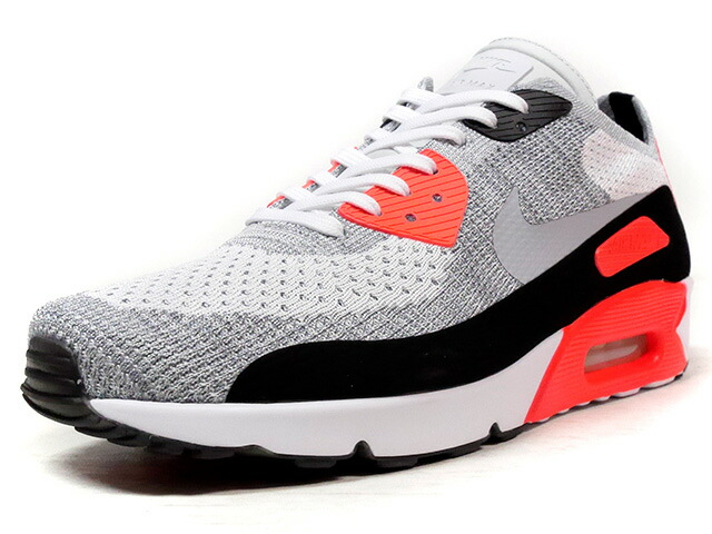"""NIKE AIR MAX 90 ULTRA 2.0 FLYKNIT """"LIMITED EDITION for ICONS""""  WHT/GRY/RED/BLK (875943-100)"""