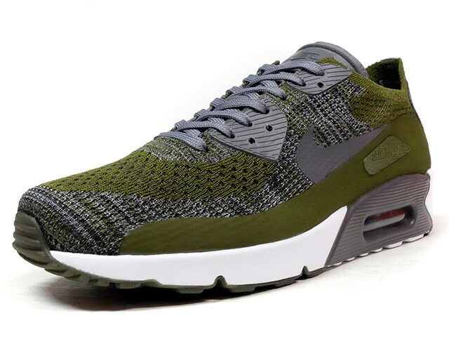 """NIKE AIR MAX 90 ULTRA 2.0 FLYKNIT """"LIMITED EDITION for ICONS""""  OLV/C.GRY/WHT (875943-300)"""