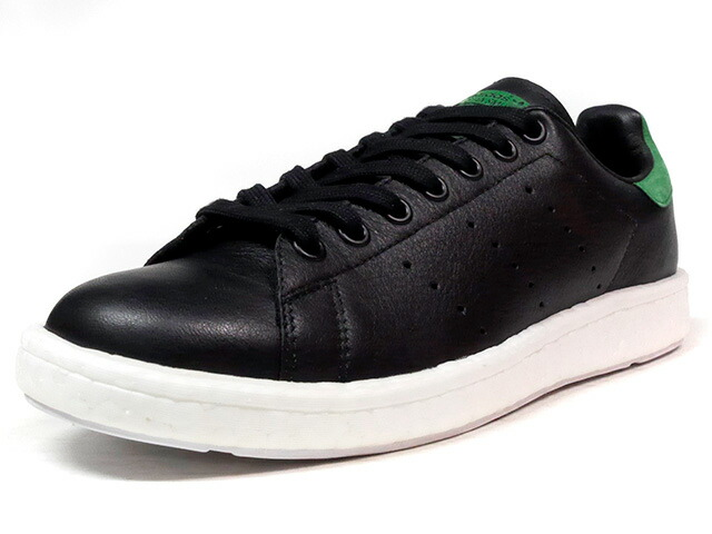 """adidas STAN SMITH BOOST """"LIMITED EDITION""""  BLK/GRN/WHT (BB0009)"""