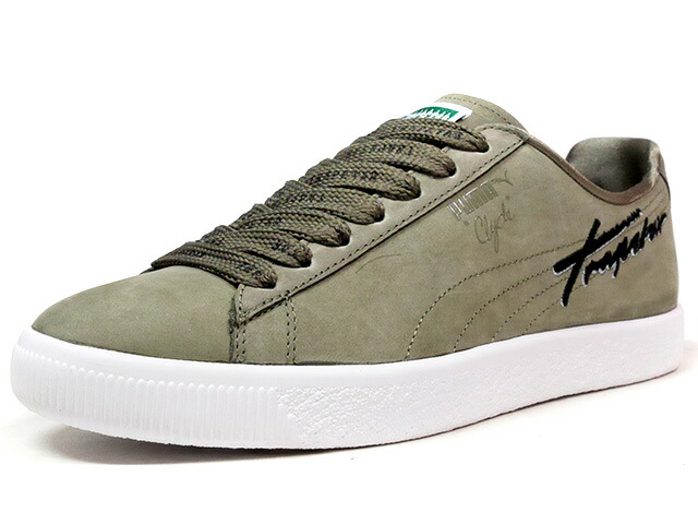 "Puma CLYDE BOLD ""TRAPSTAR"" ""LIMITED EDITION for LIFESTYLE""  OLV/WHT (362989-02)"