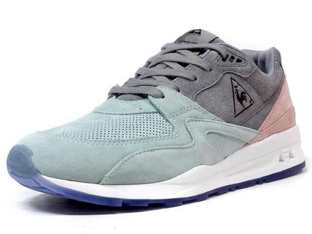 "le coq sportif LCS R 800 SUEDE ""LIMITED EDITION""  E.GRN/GRY/PINK/WHT/L.BLU (1710089)"
