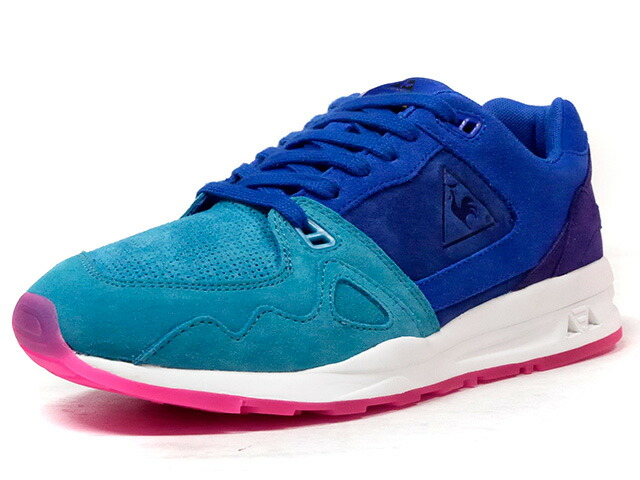 "le coq sportif LCS R 1000 SUEDE ""LIMITED EDITION""  E.GRN/BLU/PPL/WHT/PINK (1710087)"