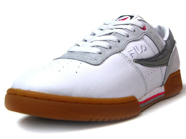 "FILA ORIGINAL FITNESS ""STAPLE DESIGN""  WHT/GRY/PNK/GUM (1VF80142WHT)"