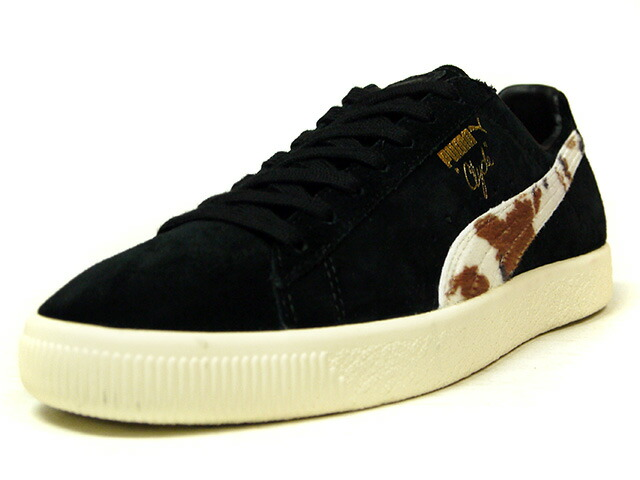 "Puma CLYDE ""Packer Shoes"" ""LIMITED EDITION for CREAM""  BLK/COW/NAT (363507-01)"