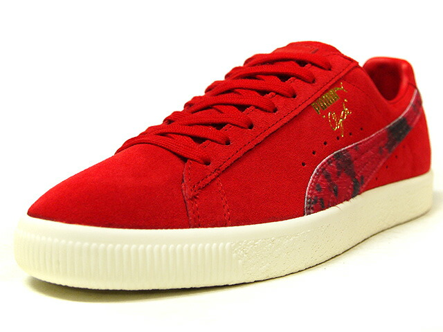 "Puma CLYDE ""Packer Shoes"" ""LIMITED EDITION for CREAM""  RED/COW/NAT (363507-02)"