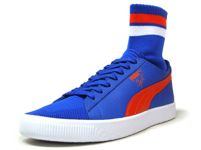 "Puma CLYDE SOCK NYC ""NEW YORK KNICKS"" ""WALT FRAZIER"" ""NYC PACK"" ""KA LIMITED EDITION""  BLU/ORG/WHT (364948-03)"
