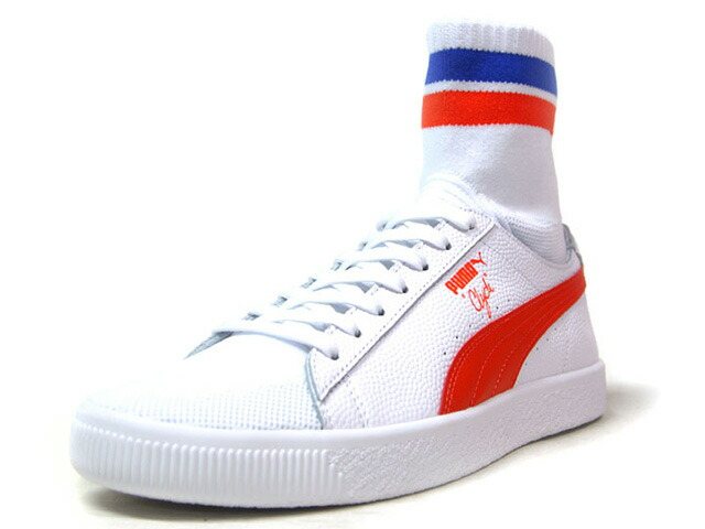 "Puma CLYDE SOCK NYC ""NEW YORK KNICKS"" ""WALT FRAZIER"" ""NYC PACK"" ""KA LIMITED EDITION""  WHT/ORG/BLU (364948-04)"