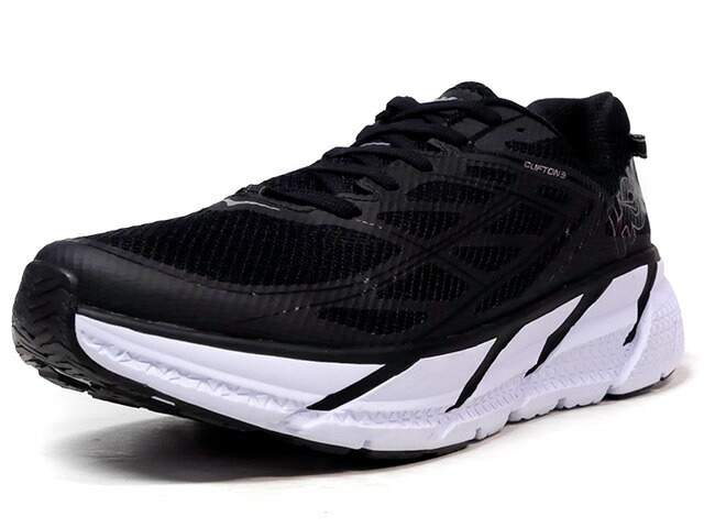 HOKA ONE ONE CLIFTON 3  BLK/WHT (1012046)