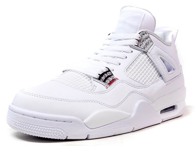 "NIKE AIR JORDAN IV RETRO ""PURE MONEY"" ""MICHAEL JORDAN"" ""LIMITED EDITION for JORDAN BRAND""  WHT/SLV (308497-100)"