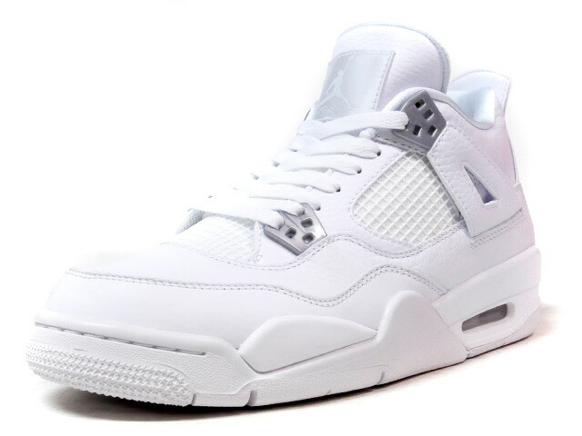 "NIKE AIR JORDAN IV RETRO BG ""PURE MONEY"" ""MICHAEL JORDAN"" ""LIMITED EDITION for JORDAN BRAND""  WHT/GRY (408452-100)"