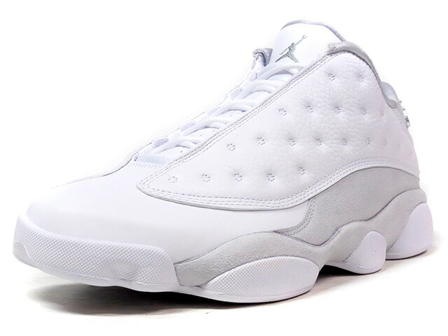 "NIKE AIR JORDAN XIII RETRO LOW ""PURE MONEY"" ""MICHAEL JORDAN"" ""LIMITED EDITION for JORDAN BRAND""  WHT/SLV/L.GRY (310810-100)"