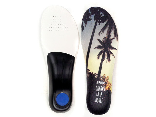 "GOODS THE PREMIUM COMFORT GRIP INSOLE ""PALM TREE""  PALMTREE (TPCGI-03)"