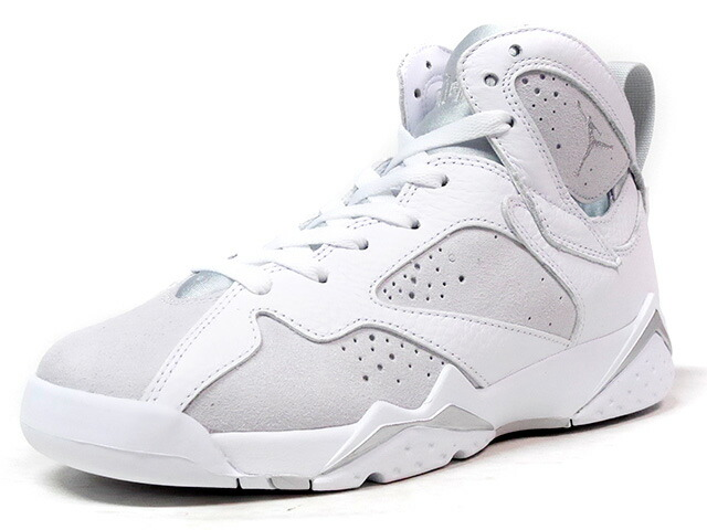 "NIKE AIR JORDAN VII RETRO BG ""PURE MONEY"" ""MICHAEL JORDAN"" ""LIMITED EDITION for JORDAN BRAND""  WHT/L.GRY/SLV (304774-120)"