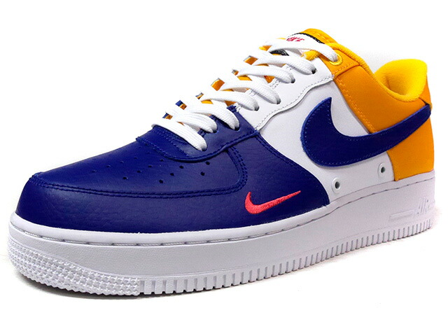 "NIKE AIR FORCE I 07 LV8 ""LIMITED EDITION for ICONS""  BLU/WHT/YEL (823511-404)"