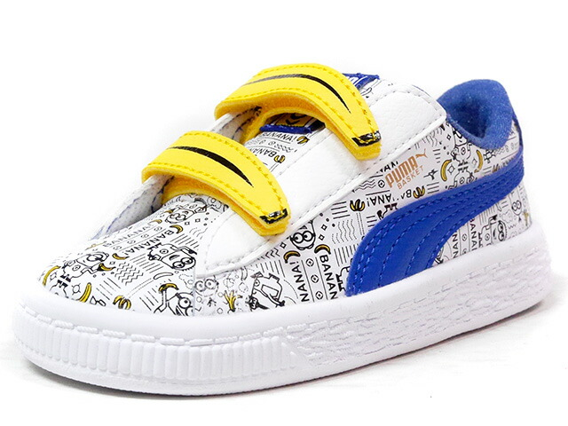 "Puma MINIONS BASKET V INFANT ""MINIONS"" ""LIMITED EDITION for LIFESTYLE""  WHT/BLU/YEL (364013-01)"