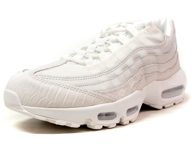 "NIKE AIR MAX 95 PRM ""WHITE SNAKESKIN"" ""LIMITED EDITION for ICONS""  WHT/WHT (538416-100)"