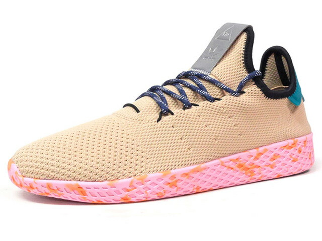 "adidas PW TENNIS HU ""PHARRELL WILLIAMS"" ""HU COLLECTION"" ""LIMITED EDITION""  BGE/GRN/YEL/PNK (BY2672)"