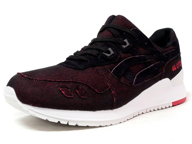"ASICS Tiger GEL-LYTE III ""JAPANESE DENIM PACK"" ""LIMITED EDITION""  BLK/RED/DENIM/WHT (HN7L1-9090)"