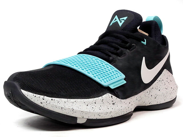"NIKE PG 1 EP ""LIGHT AQUA"" ""PAUL GEORGE"" ""LIMITED EDITION for BASKETBALL SIGNATURE""  BLK/E.BLU/GRY (878628-002)"