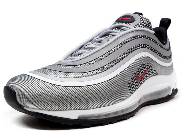 "NIKE AIR MAX 97 ULTRA '17 ""SILVER BULLET"" ""LIMITED EDITION for ICONS""  SLV/RED/BLK (918356-003)"