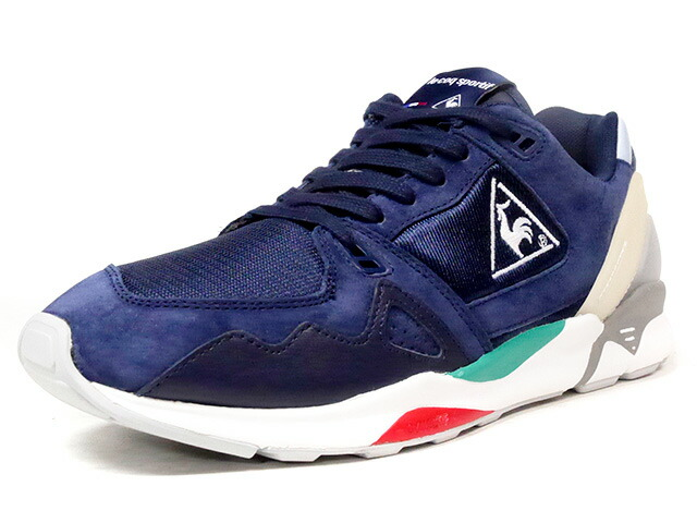 "le coq sportif LCS R 921 ""mita sneakers"" ""LE CLUB""  NVY/GRY/E.GRN/RED (QMT-7330NV)"