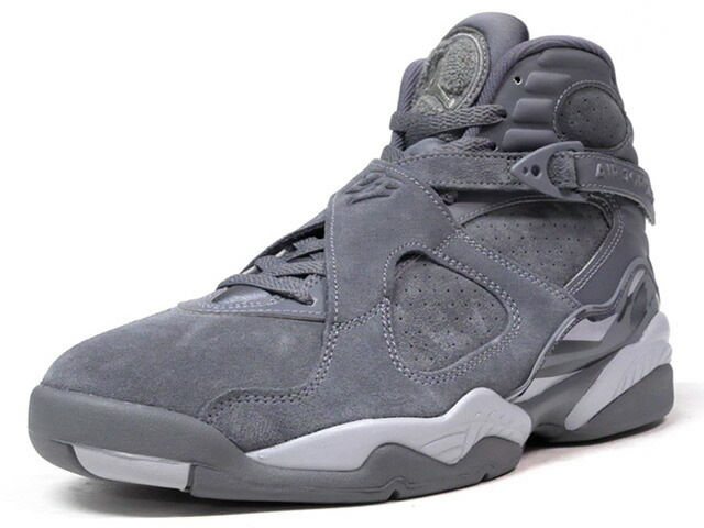 "NIKE AIR JORDAN 8 RETRO ""COOL GREY"" ""MICHAEL JORDAN"" ""LIMITED EDITION for JORDAN BRAND""  GRY/L.GRY (305381-014)"