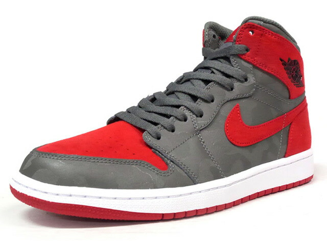 "NIKE AIR JORDAN 1 RETRO HIGH PREM ""SHADOW CAMO"" ""MICHAEL JORDAN"" ""LIMITED EDITION for JORDAN BRAND""  C.GRY/RED/WHT (AA3933-032)"