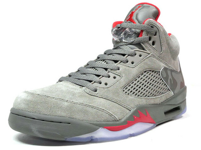 "NIKE AIR JORDAN 5 RETRO ""REFLECTIVE CAMO"" ""MICHAEL JORDAN"" ""LIMITED EDITION for JORDAN BRAND""  OLV/RED/CAMO (136027-051)"