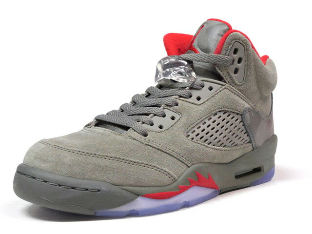 "NIKE AIR JORDAN 5 RETRO BG ""REFLECTIVE CAMO"" ""MICHAEL JORDAN"" ""LIMITED EDITION for JORDAN BRAND""  OLV/RED/CAMO (440888-051)"
