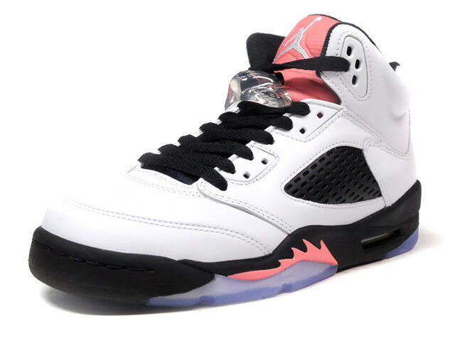"NIKE AIR JORDAN 5 RETRO GG ""SALMON TONGUE"" ""MICHAEL JORDAN"" ""LIMITED EDITION for JORDAN BRAND""  WHT/BLK/S.PNK (440892-115)"