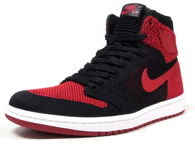 "NIKE AIR JORDAN 1 RETRO HI FLYKNIT ""BRED"" ""MICHAEL JORDAN"" ""LIMITED EDITION for JORDAN BRAND""  BLK/RED/WHT (919704-001)"