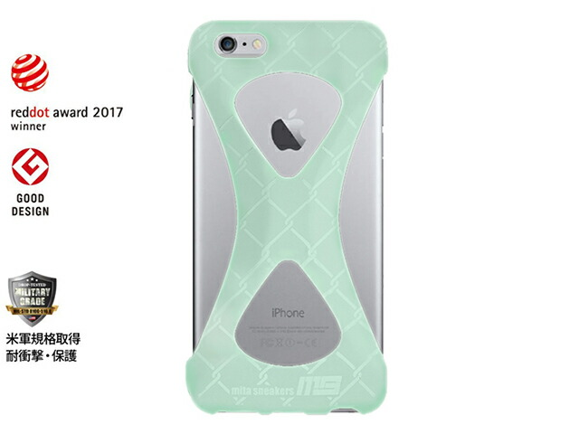 "GOODS Palmo x mita sneakers for iPhone 6 Plus & iPhone 6s Plus ""GLOW IN THE DARK""  GID/WHT (Palmo6pmsgid)"