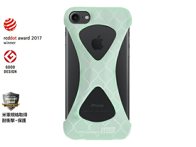 "GOODS Palmo x mita sneakers for iPhone 7 ""GLOW IN THE DARK""  GID/WHT (Palmo7msgid)"