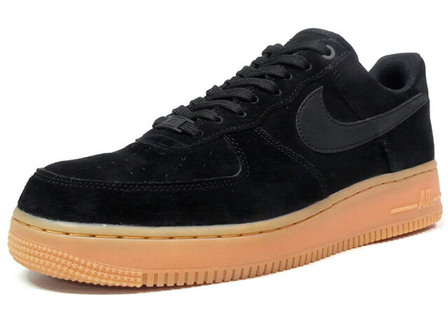 "NIKE AIR FORCE 1 07 LV8 SUEDE ""LIMITED EDITION for ICONS""  BLK/GUM (AA1117-001)"