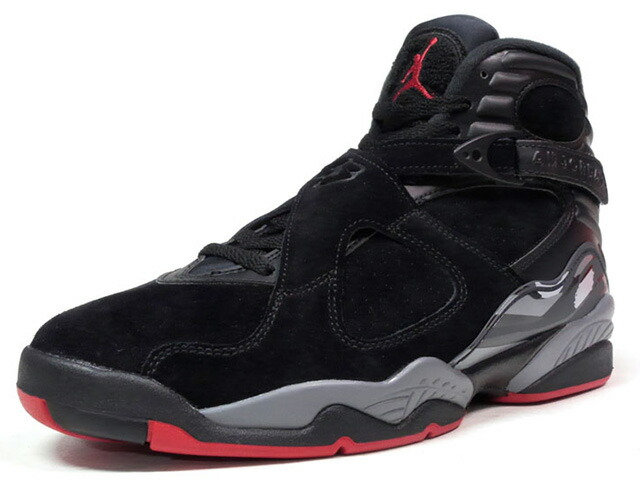 "NIKE AIR JORDAN 8 RETRO ""CEMENT"" ""MICHAEL JORDAN"" ""LIMITED EDITION for JORDAN BRAND""  BLK/GRY/RED (305381-022)"