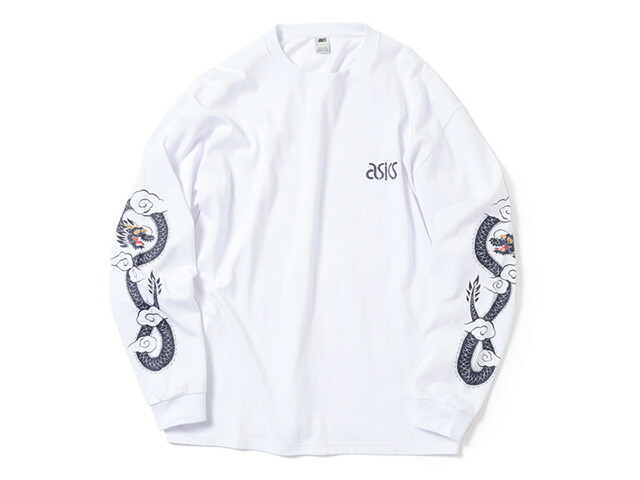 "ASICS Tiger LONG SLEEVE PRINT TEE ""BEAMS x mita sneakers""  WHT/NVY (A11700-0001)"