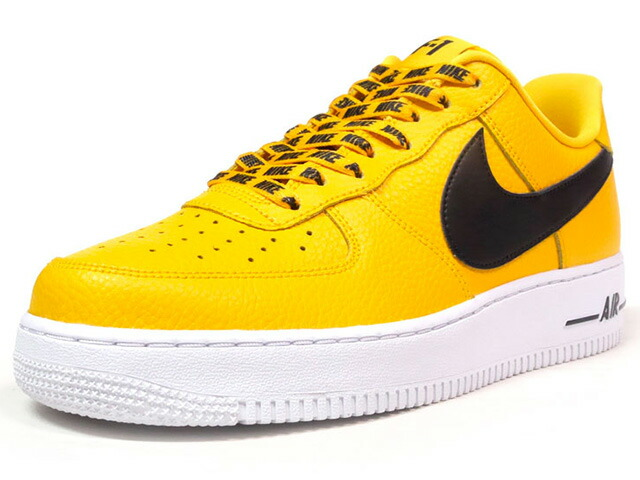 "NIKE AIR FORCE 1 07 LV8 ""STATEMENT GAME"" ""LIMITED EDITION for ICONS""  YEL/BLK/WHT (823511-701)"