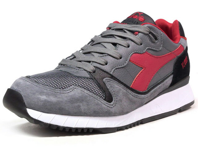 """diadora V7000 ITALIA """"made in ITALY"""" """"LIMITED EDITION""""  GRY/BLK/RED (170942-C7033)"""