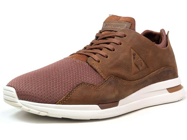 """le coq sportif LCS R PURE PULL UP LEATHER/MESH """"LIMITED EDITION for BETTER +""""  BRN/WHT (1720238)"""