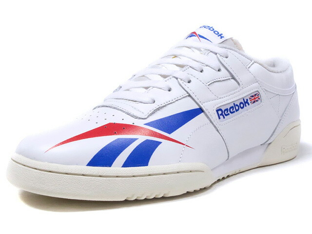 "Reebok WORKOUT LOW CLEAN KASINA ""KASINA"" ""FITNESS HERITAGE"" ""LIMITED EDITION for CERTIFIED NETWORK""  WHT/O.WHT/BLU/RED (CN1734)"