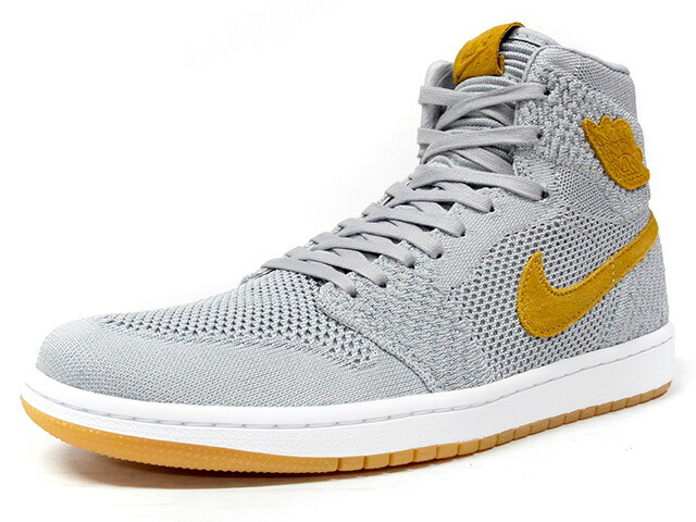 "NIKE AIR JORDAN 1 RETRO HI FLYKNIT ""WOLF GREY"" ""MICHAEL JORDAN"" ""LIMITED EDITION for JORDAN BRAND""  GRY/BGE/GUM (919704-025)"