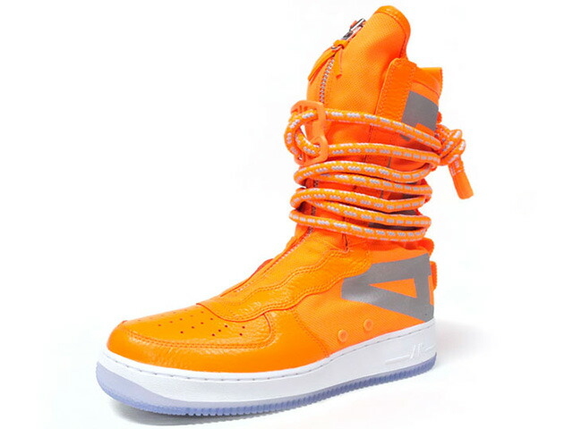"NIKE SF AF 1 HI ""LIMITED EDITION for ICONS""  ORG/SLV/CLEAR (AA1128-800)"