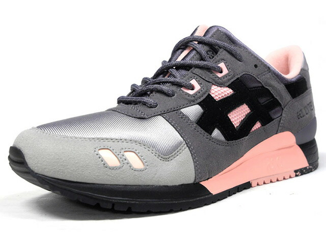"ASICSTIGER GEL-LYTE III ""VINTAGE NYLON"" ""WOEI""  GRY/L.GRY/S.PNK/BLK (H7ZUQ-5990)"