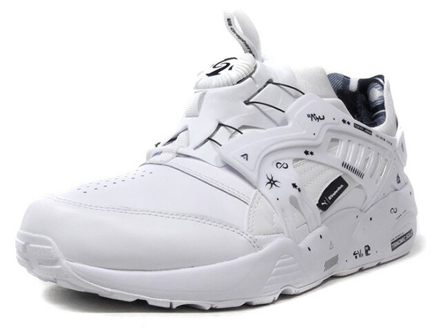 "Puma DISC BLAZE LEATHER BY GR ""GraphersRock"" ""KA LIMITED EDITION""  WHT/BLK (365412-01)"
