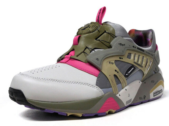 "Puma DISC BLAZE LEATHER BY GR ""GraphersRock"" ""KA LIMITED EDITION""  GRY/L.GRY/OLV/PNK/PPL (365412-02)"